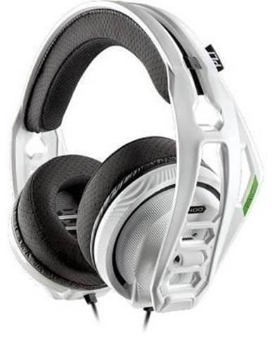 Sluchátka přes hlavu headset plantronics rig 400hx, pro xbox one, bílá