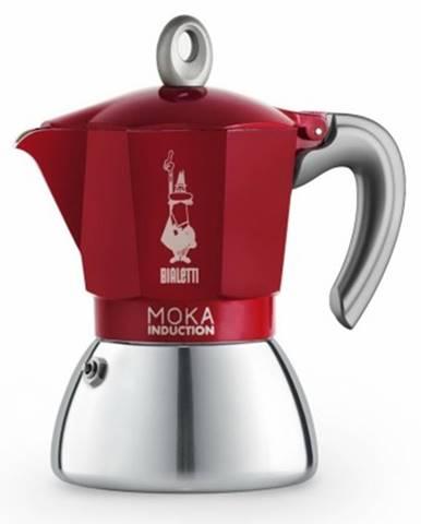 Překapaváč kávy moka konvička bialetti moka induction red, 4 porce