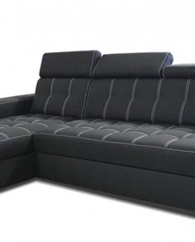 Rohová sedačka rozkládací belfast iv levý roh úp černá