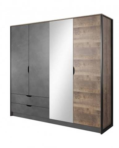 šatní skříň laura - 220x204x56 cm