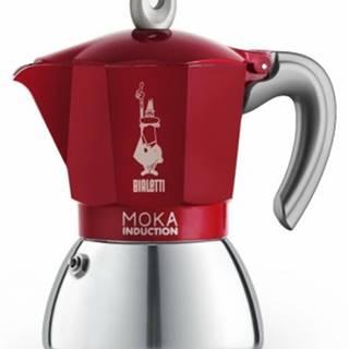 Překapaváč kávy moka konvička bialetti moka induction red, 6 porcí