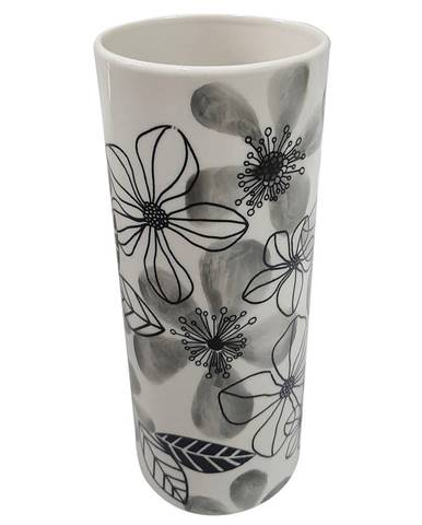 Ambia Home VÁZA, keramika, 19.5 cm - černá, bílá