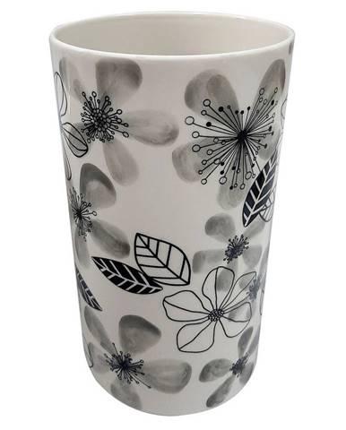 Ambia Home VÁZA, keramika, 24.5 cm - černá, bílá