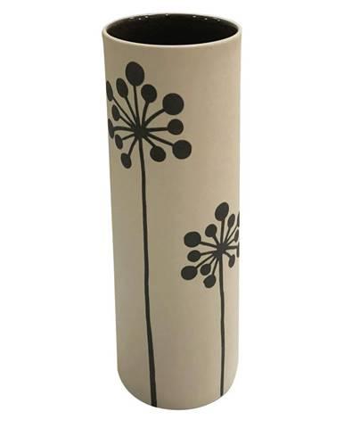 Ambia Home VÁZA, keramika, 24 cm - černá, bílá