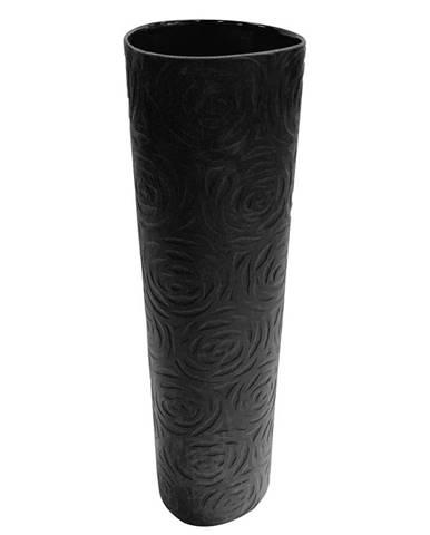 Ambia Home VÁZA, keramika, 31 cm - tmavě šedá