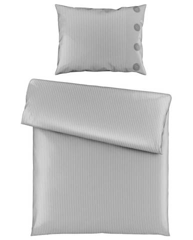 Ambiente POVLEČENÍ, satén, barvy stříbra, 140/200 cm - barvy stříbra