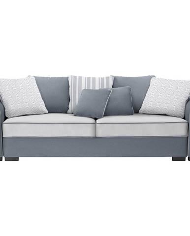 Hom`in VELKÁ POHOVKA, textil, šedá, bílá - šedá, bílá