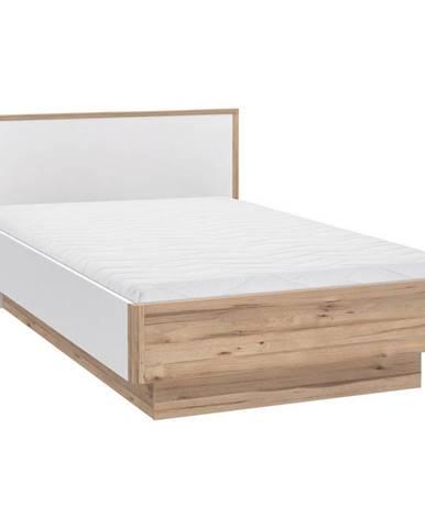 Xora POSTEL, 120/200 cm, kompozitní dřevo, bílá, barvy dubu - bílá, barvy dubu