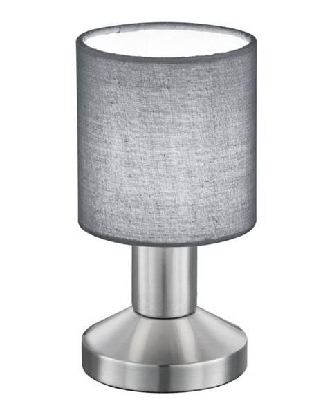 Novel Novel STOLNÍ LAMPA, E14, 9,5/18 cm - šedá, barvy niklu