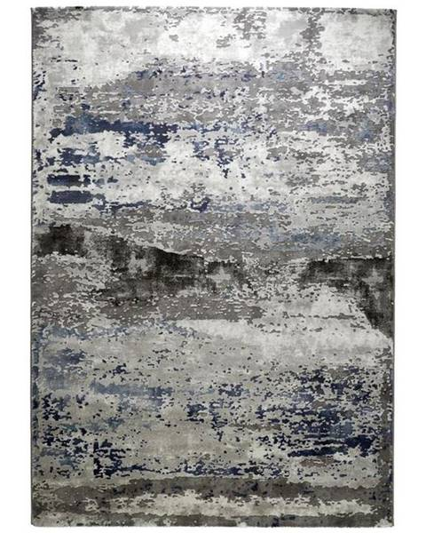 Novel Novel TKANÝ KOBEREC, 133/190 cm, modrá, barvy stříbra - modrá, barvy stříbra