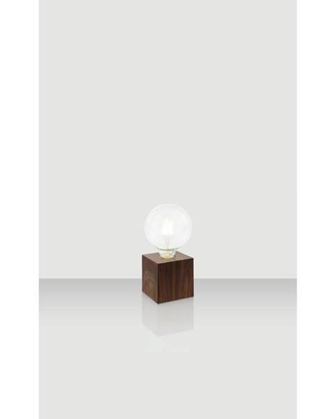Xora Xora STOLNÍ LAMPA, E27, 10/10/10 cm - barvy dubu, tmavě hnědá