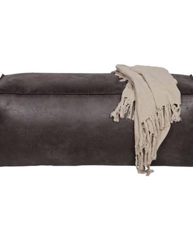 Ambia Home TABURET, textil, kůže, 120/43/60 cm - černá