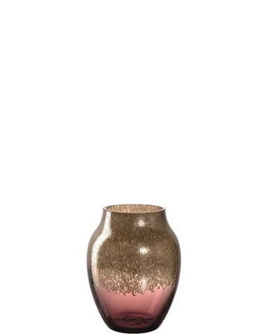 Leonardo VÁZA, sklo, 16 cm - červená, barvy zlata