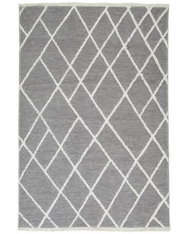 Novel KOBEREC TKANÝ NA PLOCHO, 120/170 cm, šedá, bílá - šedá, bílá
