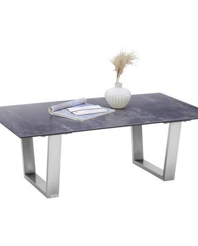 Novel KONFERENČNÍ STOLEK, barvy nerez oceli, tmavě šedá, kov, sklo, keramika, 120/70/42 cm - barvy nerez oceli, tmavě šedá