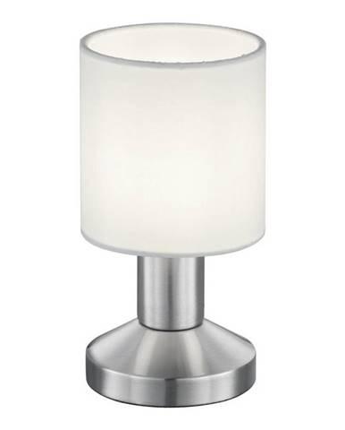 Novel STOLNÍ LAMPA, E14, 9,5/18 cm - bílá, barvy niklu