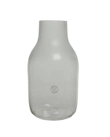 VÁZA, sklo, 35 cm - průhledné
