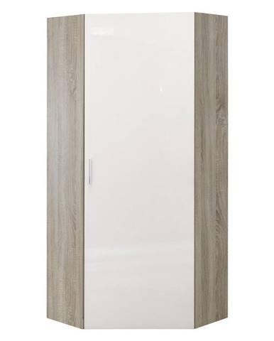 Xora ŠATNÍ SKŘÍŇ, bílá, barvy dubu, 80/185/80 cm - bílá, barvy dubu