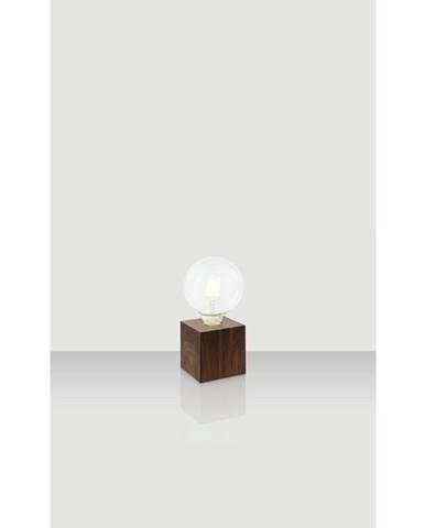 Xora STOLNÍ LAMPA, E27, 10/10/10 cm - barvy dubu, tmavě hnědá