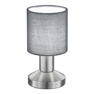 Novel STOLNÍ LAMPA, E14, 9,5/18 cm - šedá, barvy niklu