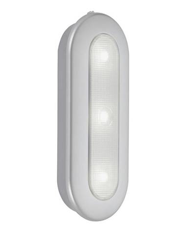 NÁSTĚNNÉ LED SVÍTIDLO, 15,2/6,3/2,6 cm - barvy stříbra