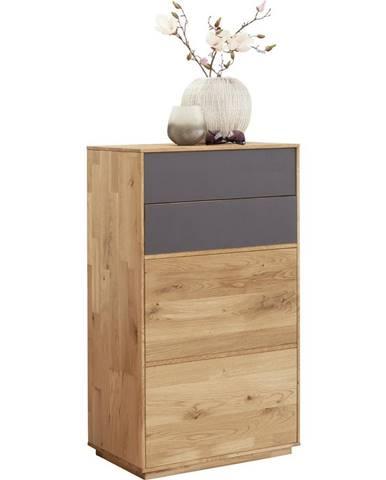 Valnatura BOTNÍK, antracitová, barvy dubu, dub, 60/105/38 cm - antracitová, barvy dubu