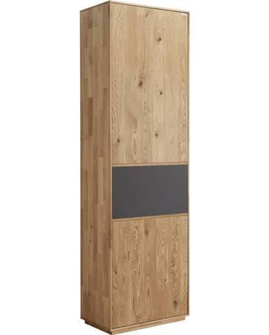 Valnatura ŠATNÍ SKŘÍŇ, antracitová, barvy dubu, dub, 60/205/38 cm - antracitová, barvy dubu