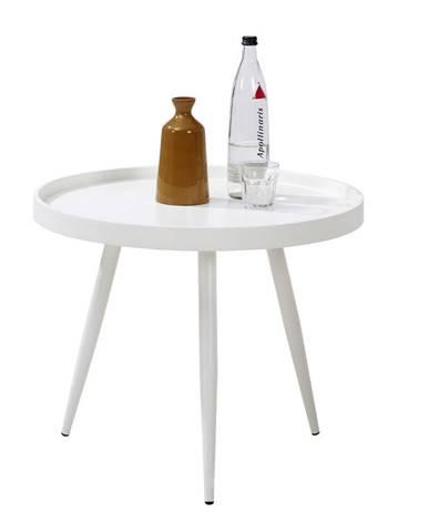 Carryhome KONFERENČNÍ STOLEK, bílá, kov, kompozitní dřevo, 60/60/50 cm - bílá