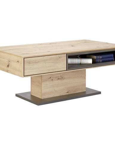 Hom`in KONFERENČNÍ STOLEK, šedá, barvy dubu, kompozitní dřevo, 115/65/44 cm - šedá, barvy dubu