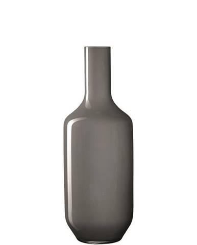 Leonardo VÁZA, sklo, 50 cm - šedá