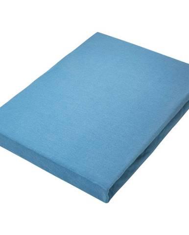 Novel PROSTĚRADLO NAPÍNACÍ, žerzej, modrá, 180/200 cm - modrá