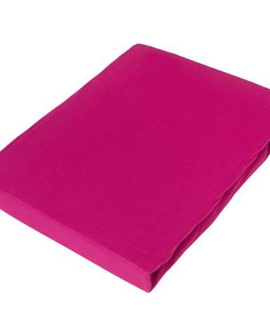 Novel PROSTĚRADLO NAPÍNACÍ, žerzej, růžová, 180/200 cm - růžová