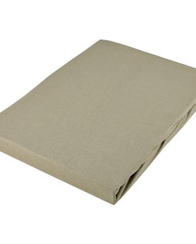 Novel PROSTĚRADLO NAPÍNACÍ, žerzej, šedohnědá, 180/200 cm - šedohnědá