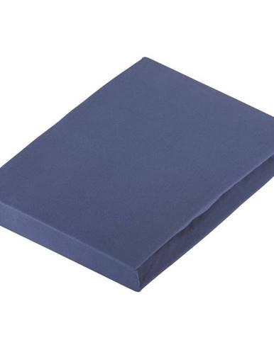 Novel PROSTĚRADLO NAPÍNACÍ, žerzej, tmavě modrá, 180/200 cm - tmavě modrá