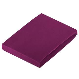 Novel PROSTĚRADLO NAPÍNACÍ, žerzej, fialová, 180/200 cm - fialová