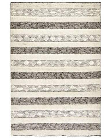 Linea Natura RUČNĚ TKANÝ KOBEREC, 120/180 cm, černá, bílá - černá, bílá