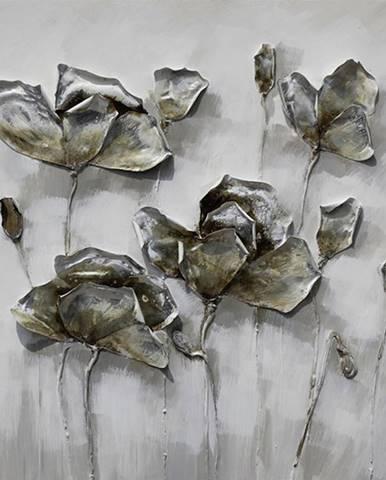 Monee OLEJOMALBA, květiny, 85/85 cm - vícebarevná