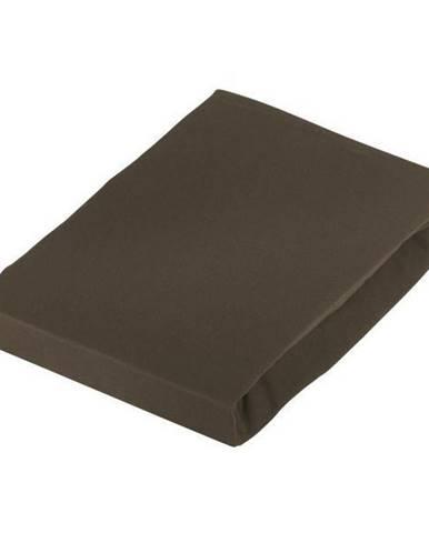 Novel PROSTĚRADLO NA BOXSPRING, žerzej, hnědá, 180-200/220 cm - hnědá