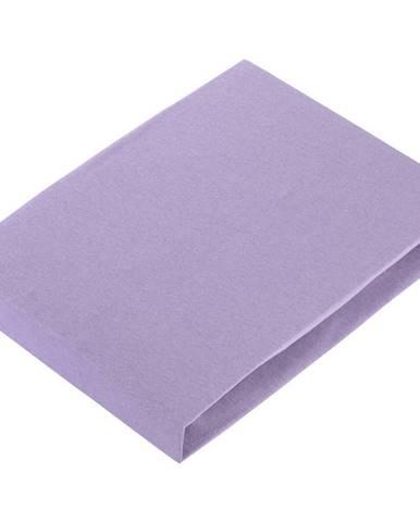 Novel PROSTĚRADLO NAPÍNACÍ, žerzej, fialová, 100/200 cm - fialová