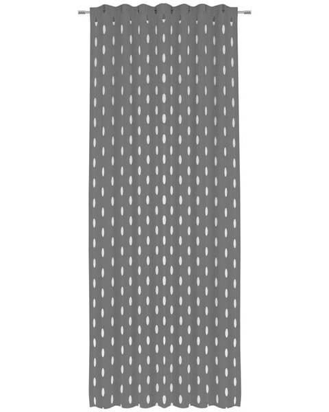 Novel Novel HOTOVÝ ZÁVĚS, poloprůhledné, 135/255 cm - antracitová