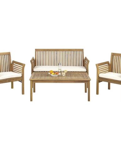 Ambia Garden ZAHRADNÍ SADA, 7dílné, dřevo, textil - přírodní barvy, barvy teak