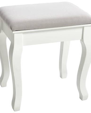 Ambia Home TABURET, dřevo, textil, kompozitní dřevo, 40/45/30 cm - šedá, bílá