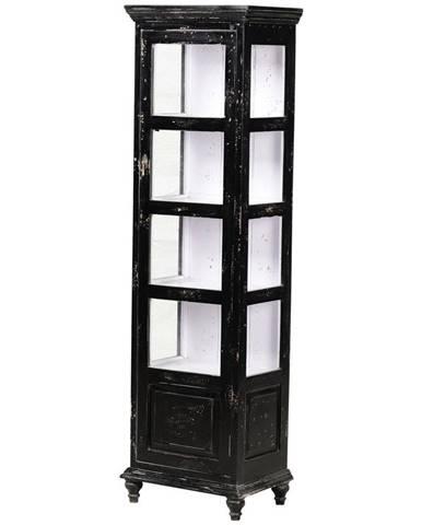 Ambia Home VITRÍNA, černá, 48/164/33 cm - černá