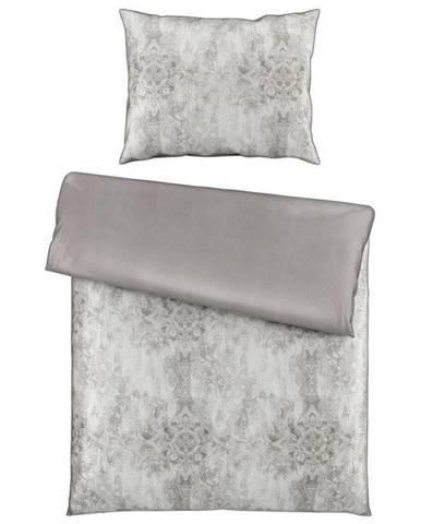 Ambiente POVLEČENÍ, satén, šedá, 140/200 cm - šedá