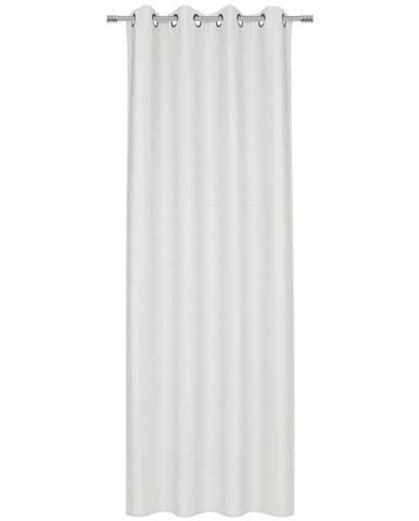 Esposa ZÁVĚS S KROUŽKY, neprůsvitné, 140/245 cm - bílá