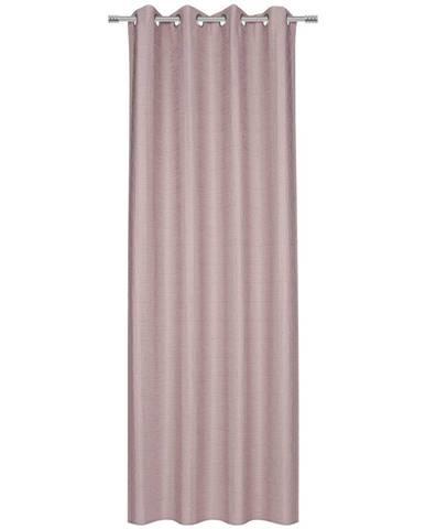 Esposa ZÁVĚS S KROUŽKY, neprůsvitné, 140/245 cm - růžová