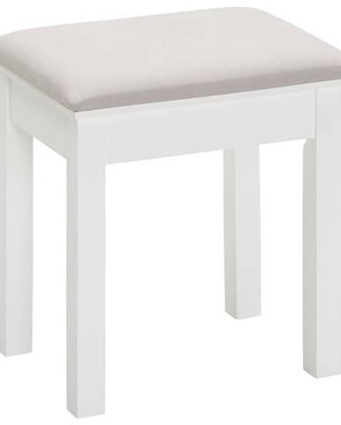 Landscape TABURET, dřevo, textil, kompozitní dřevo, 40/45/30 cm - šedá, bílá