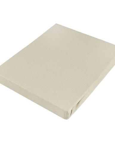Novel PROSTĚRADLO NAPÍNACÍ, žerzej, pískové barvy, 100/200 cm - pískové barvy