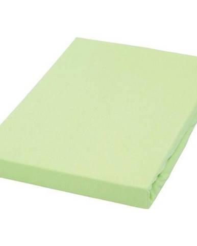 Novel PROSTĚRADLO NAPÍNACÍ, žerzej, zelená, 120/200 cm - zelená