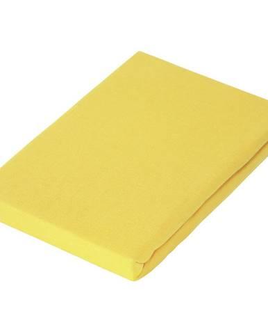 Novel PROSTĚRADLO NAPÍNACÍ, žerzej, žlutá, 100/200 cm - žlutá